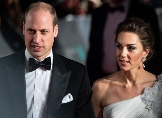 Kate Middleton ir William